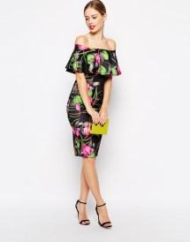 Floral Ruffle Top Midi Dress