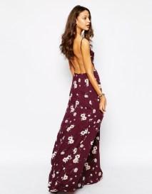 High Neck Floral Maxi Dress