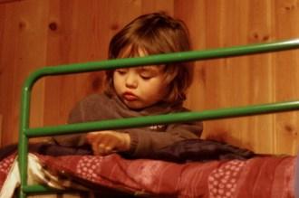 Największa atrakcja-piętrowe łóżko w schronisku
