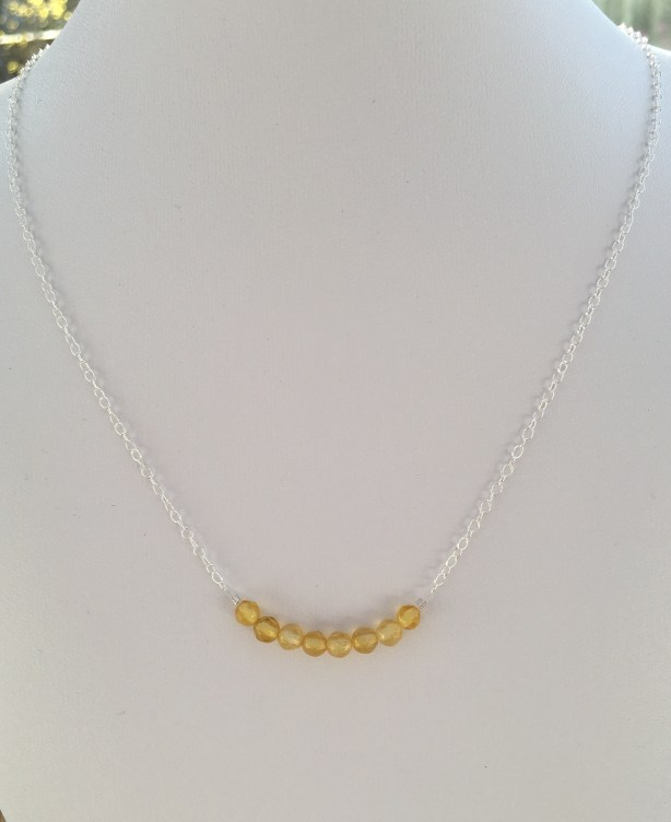 Citrine necklace with Sterling silver