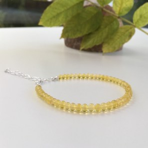 Yellow Opal bracelet finished with Sterling silver.