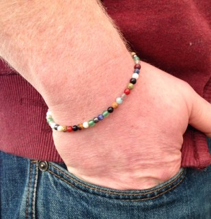 Multicoloured semiprecious bracelet