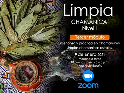 Reserva Limpias chamánicas astrales