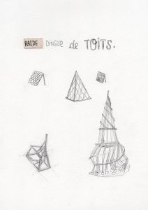 Raide dingue de toits - dessin