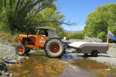 Bruce tackles creek heading for Molesworth