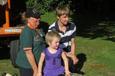 Jenny with Tasja & Flynn at Greymouth