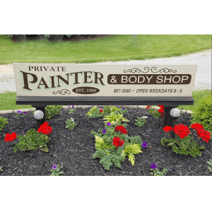 Private Painter & Body Shop Sign