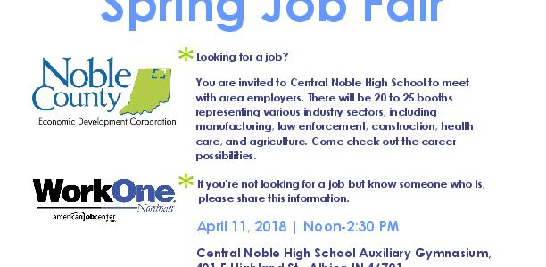 Noble County Spring Job Fair 2018