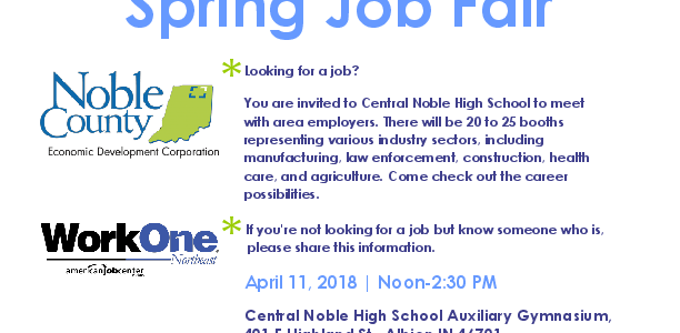 Noble County Spring Job Fair 2018