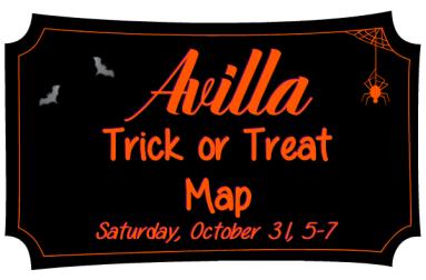 2020 Avilla Trick or Treat Map