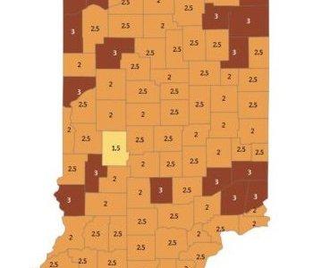 Indiana November 18 2020 C19 Map