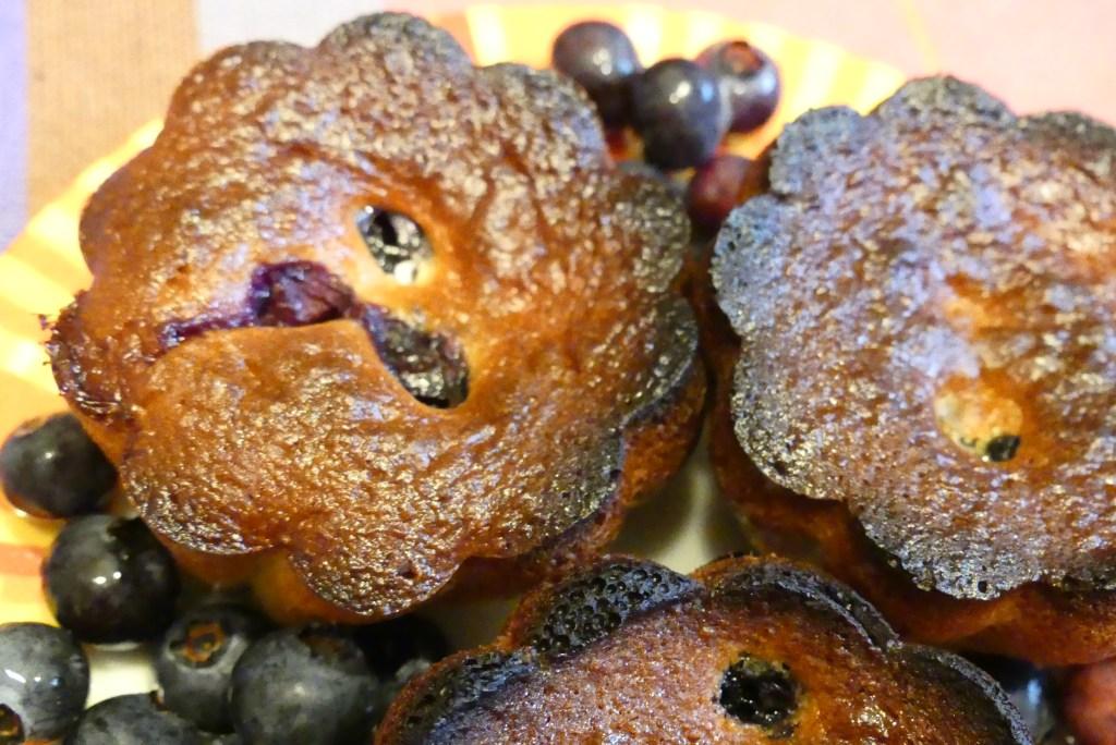 Cakes aux myrtilles