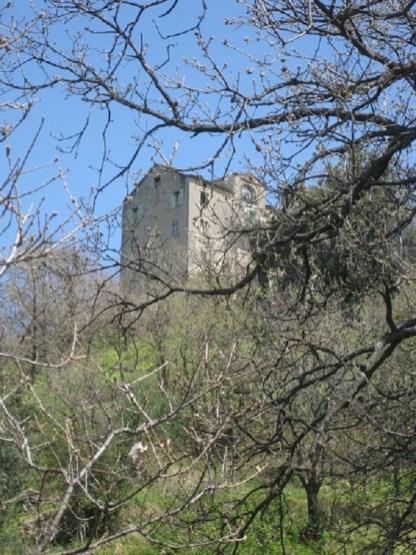 la maison vue depuis la propriété en descendant vers notre rivière