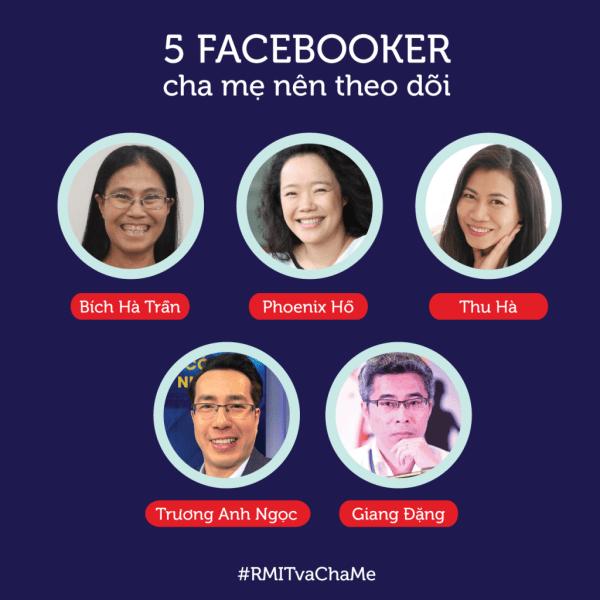 5 người cha mẹ nên theo dõi trên Facebook