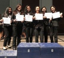 Nursing students with their award at HOSA competition