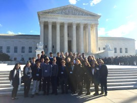 Students visit the Supreme Court.