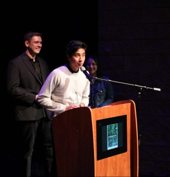 """Cameron Han, winner for Best Comedy and the Audience Selection for """"Quest"""""""