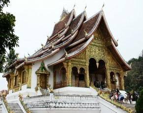 The magnificent Haw Pha Bang on the grounds of the Royal Palace Museum.
