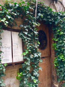 entrance to Le Coupe Chou, Paris - Champagne Travels