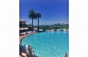 Coliseum Pool at the Pelican Hill Resort with Champagne Travels and Eileen Callahan