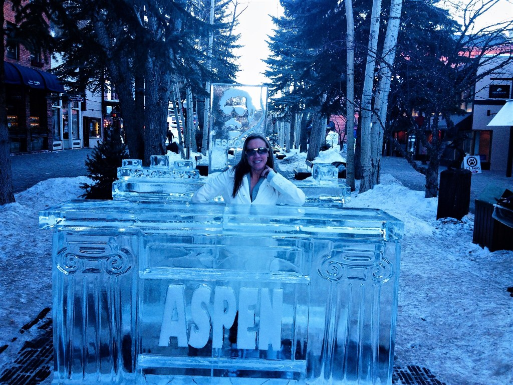 Eileen Callahan in Aspen Colorado with Champagne Travels for the Christmas season