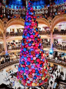 Eileen Callahan at Galeries Lafayette for Christmas Viewing of decorations