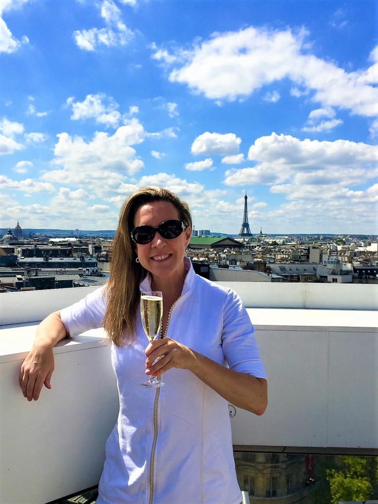 Champagne Travels Eileen Callahan in Paris France at The Cube Bar in Galeries Lafayette
