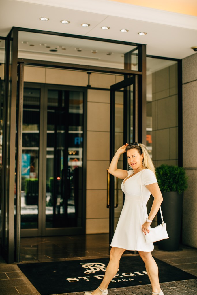 Eileen Callahan of Champagne Travels in Osaka Japan at The St. Regis Hotel Osaka