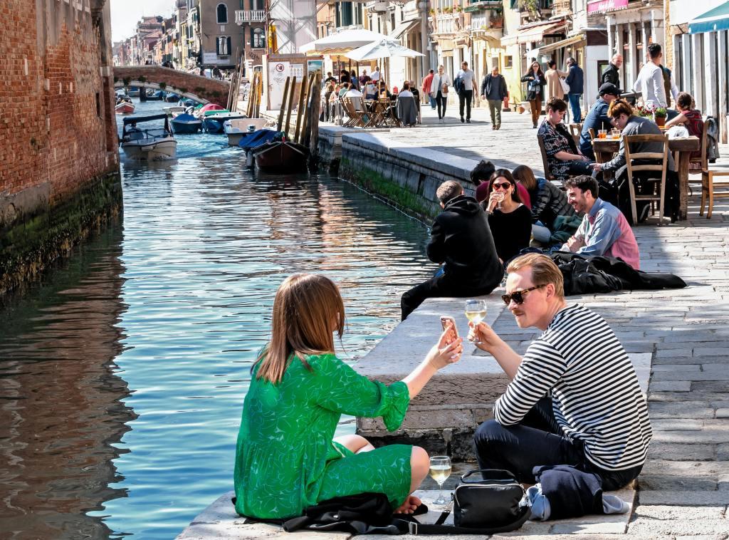 Toasting in Venice Italy