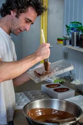 Premiers coups de pinceaux chocolatés