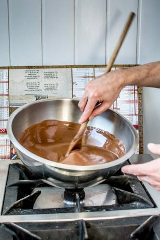 Le chocolat doit être juste à la bonne température.
