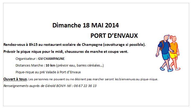 Marche port d'Envaux