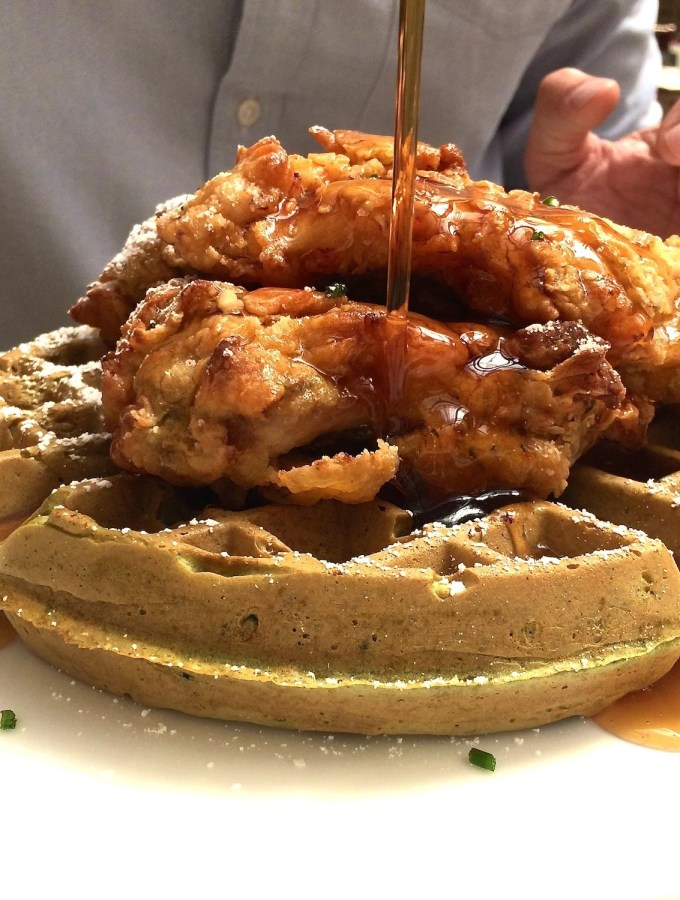 Green Tea Waffles with Tempura Chicken – San Francisco, Ca