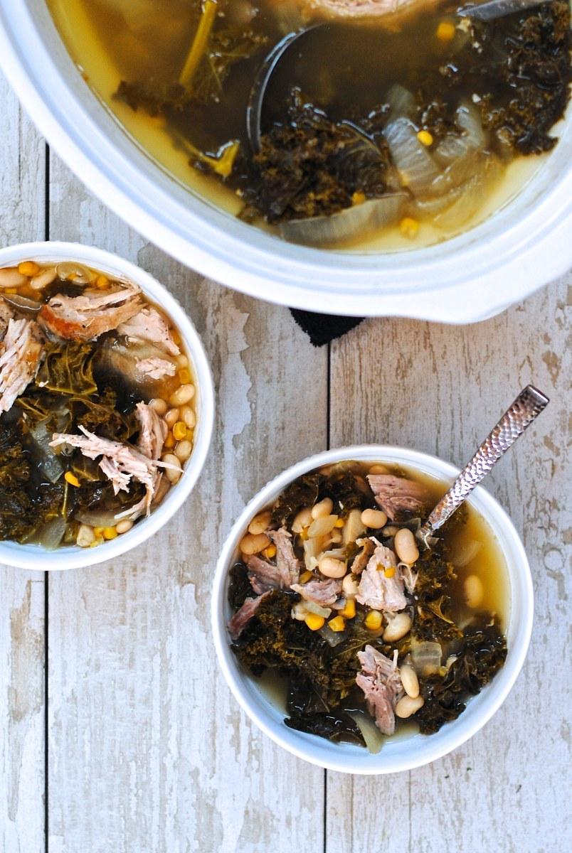 Pork, Kale & White Bean Stew