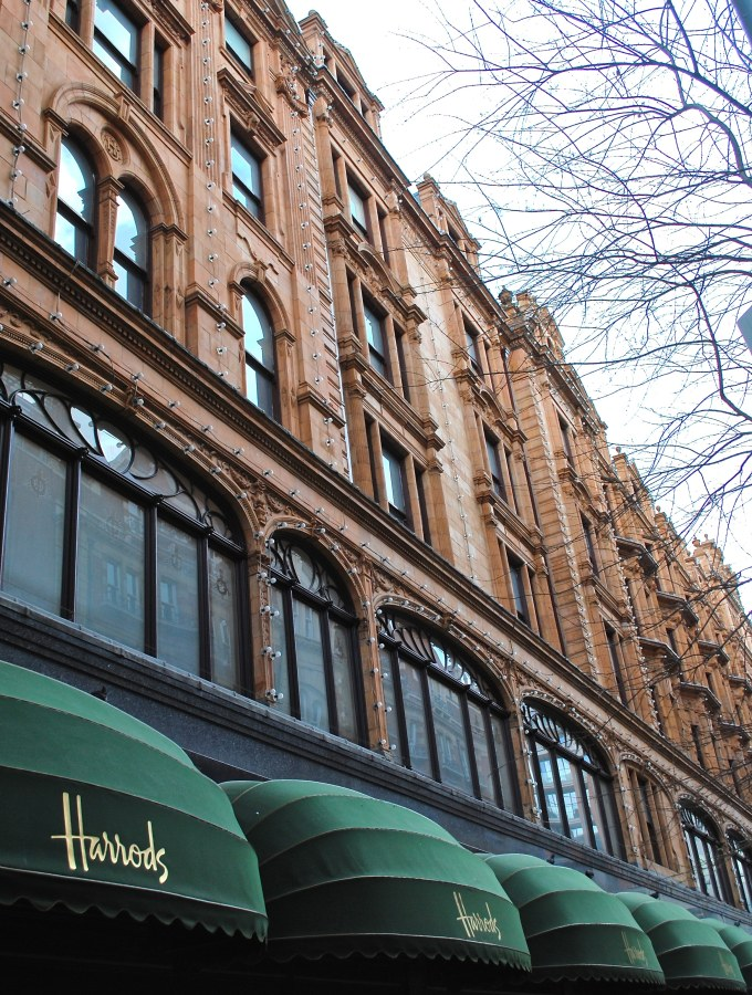 Shopping at Harrods, London