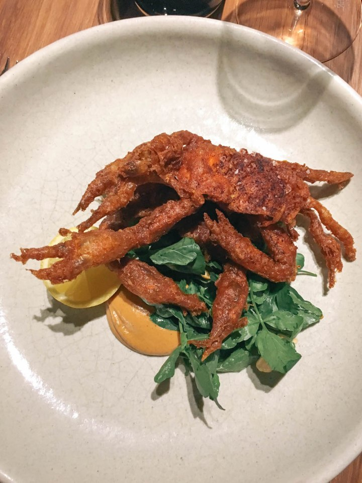 Soft Shell Crab at Pujol, Mexico City