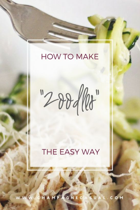 Zoodles Recipe - How to Make Zucchini Pasta