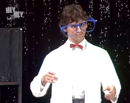 Rob Sitch on Hey Hey It's Saturday 1984