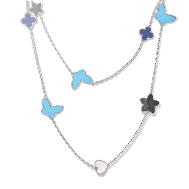 "fca3340bb5 Van Cleef   Arpels ""Alhambra"" Necklace – Champagne Gem"