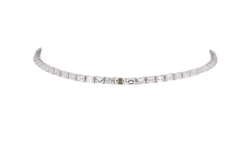 KAMYEN JEWELLERY - EMERALD-CUT DIAMOND CHOKER (REF:P-F77)