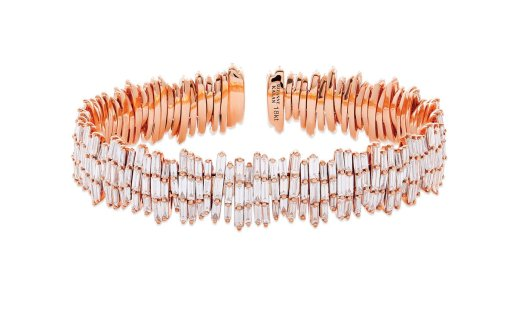 SUZANNE KALAN - TRIPLE LAYER FIREWORKS CUFF IN 18kt ROSE GOLD