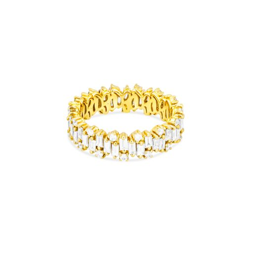 SUZANNE KALAN - SHIMMER COLLECTION ETERNITY BAND 18kt YELLOW GOLD