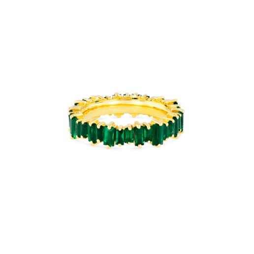 SUZANNE KALAN - 18K EMERALD BAGUETTE ETERNITY BAND