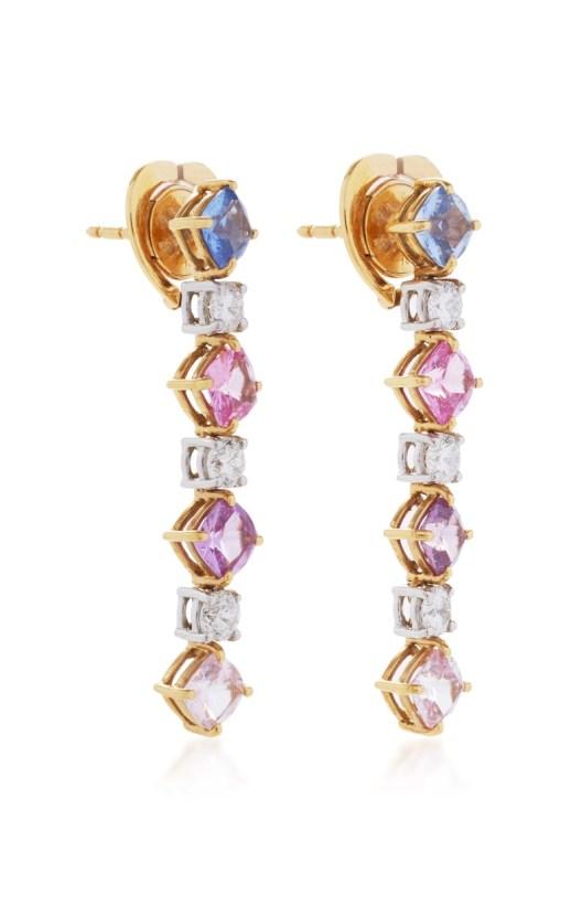 BAYCO - MULTICOLOR SAPPHIRE & DIAMOND EARRINGS