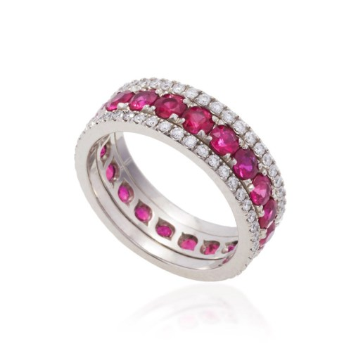 BAYCO - RUBY & DIAMOND ETERNITY BAND