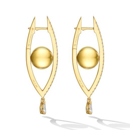 CADAR - REFLECTIONS HOOP EARRINGS, MEDIUM
