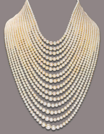 THE 7-STRAND NATURAL PEARL NECKLACE