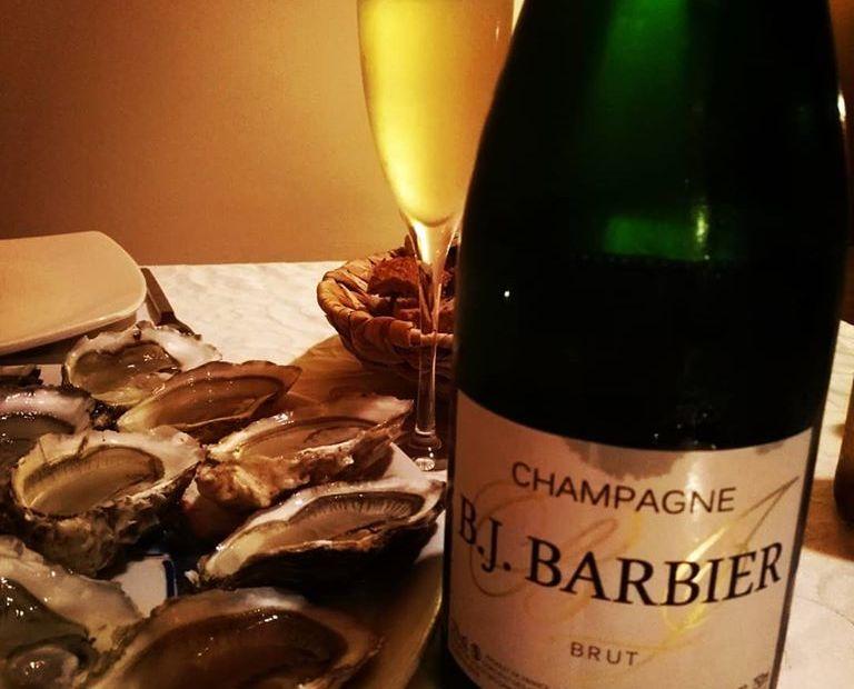 huitres et champagne