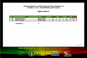 MMGPIII Figure Class C Official Score Card