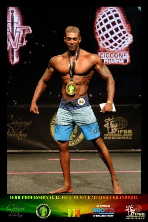 MMGPIII Men's Physique Class D Winner - Devonshire Pillay